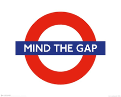 Resultado de imagen de mind the gap london metro